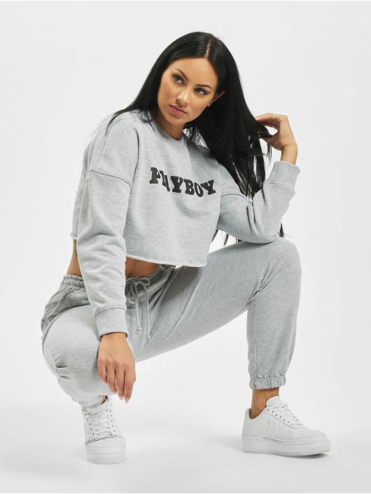 Missguided Pullover Playboy Longsleeve Lounge grey
