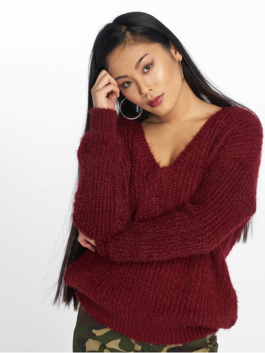Missguided Pullover Low V Back Oversized red