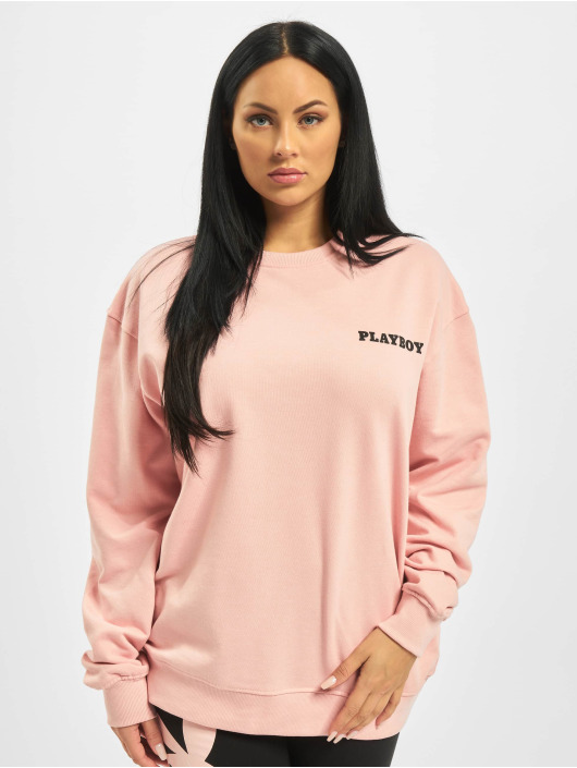 Missguided Pullover Playboy Mansion Magazine rosa
