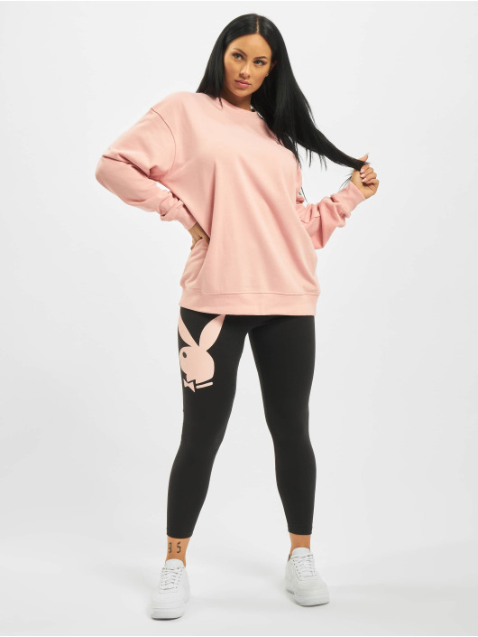 Missguided Pullover Playboy Mansion Magazine rose
