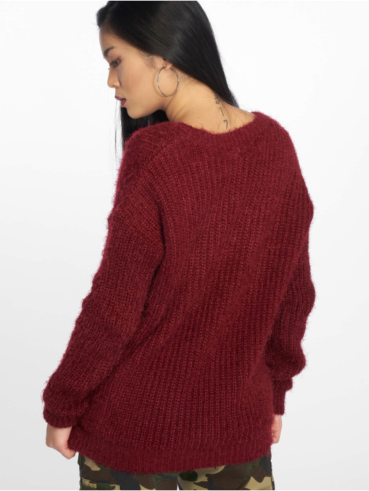Missguided Pullover Low V Back Oversized rot