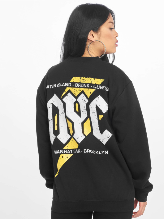Missguided Pullover Nyc Graphic Back schwarz