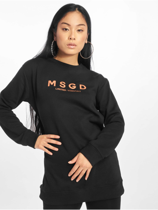 Missguided Pullover Oversized Crew Neck schwarz