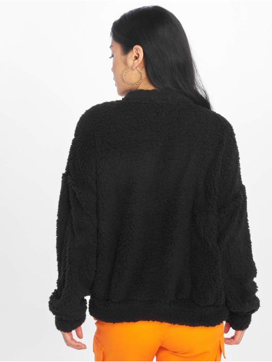 Missguided Pullover Pocket Front schwarz