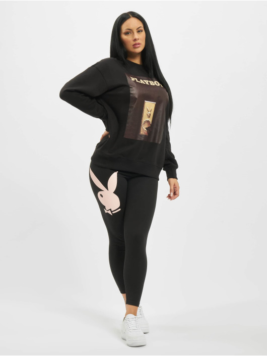 Missguided Pullover Playboy Door Magazine schwarz