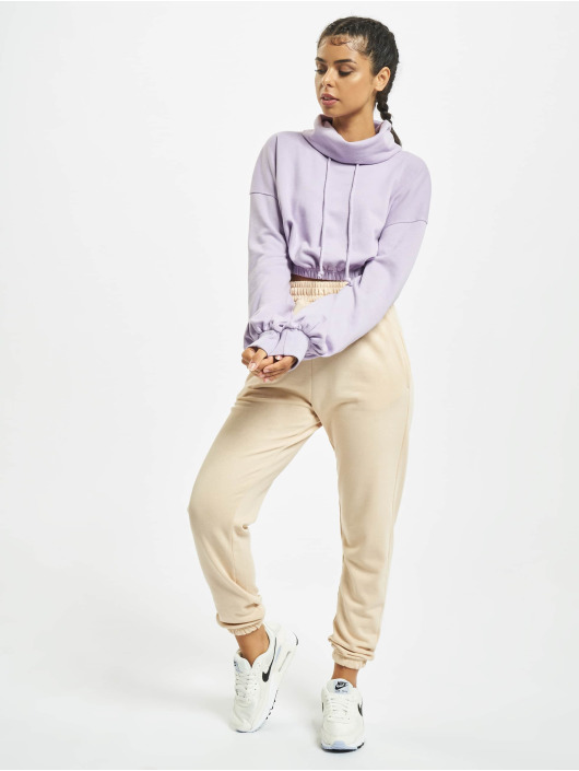 Missguided Pullover Crop Cowl Neck violet
