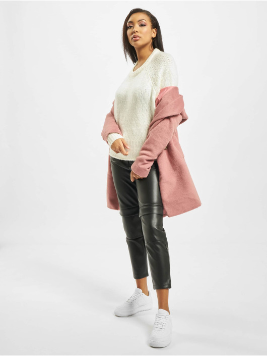 Missguided Pullover Cosy Crew Neck Roll Hem weiß