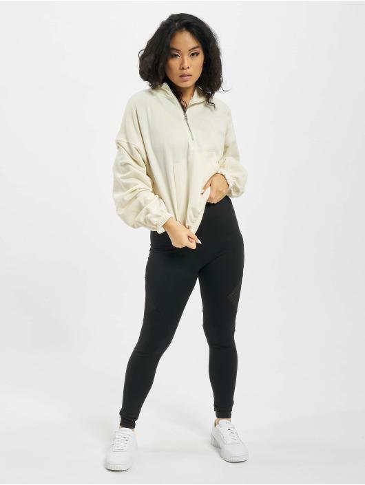 Missguided Pullover Half Zip Kangroo Pocket weiß