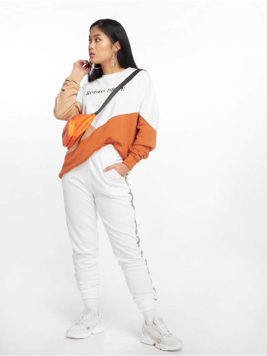 Missguided Pullover Rodeo Drive Colourblock white