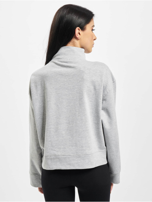 Missguided Pulóvre High Neck Tie Detail Long Sleeve šedá