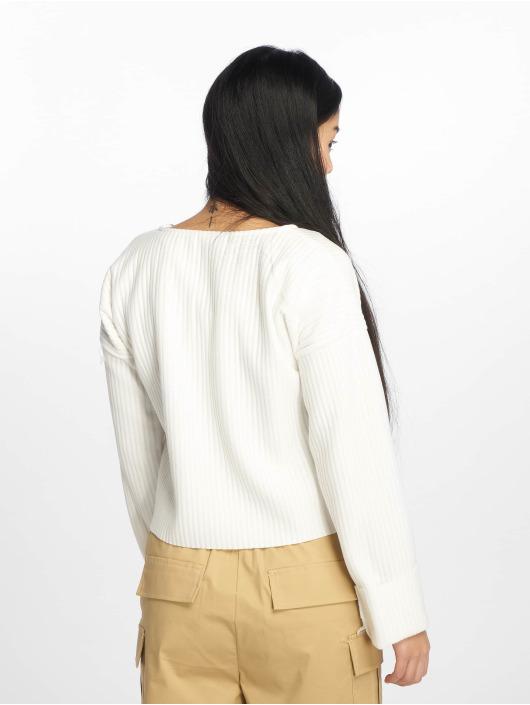 Missguided Pulóvre Boxy Drop Shoulder biela