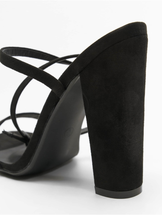 Missguided Pumpky Entry Block Heeled čern