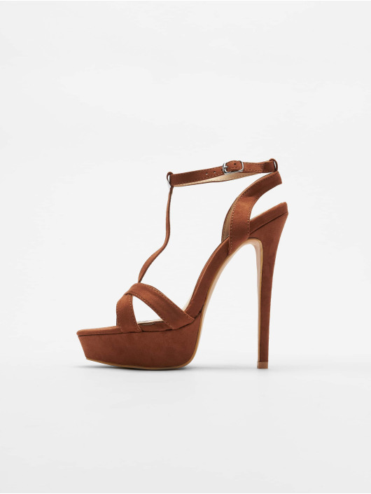 Missguided Pumps T Bar Cross Over Stiletto brown