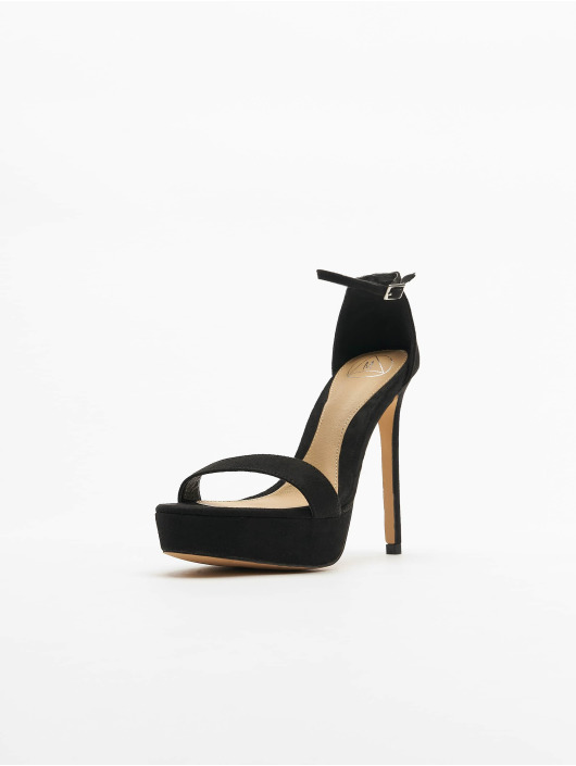 Missguided Pumps Simple Strap Platform Faux Suede sort