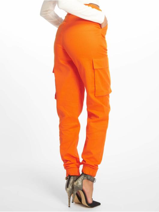 Missguided Reisitaskuhousut Plain oranssi