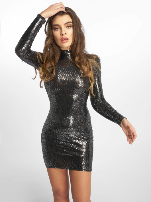 Missguided Robe Sequin argent