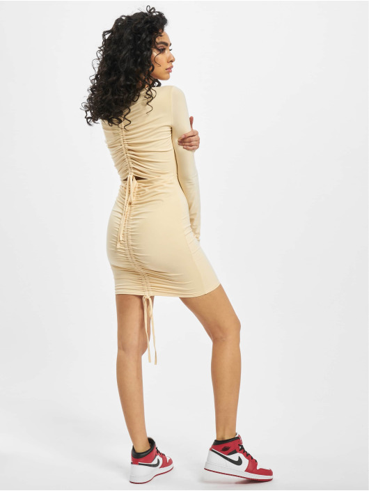Missguided Robe Long Sleeve Ruched Bum beige