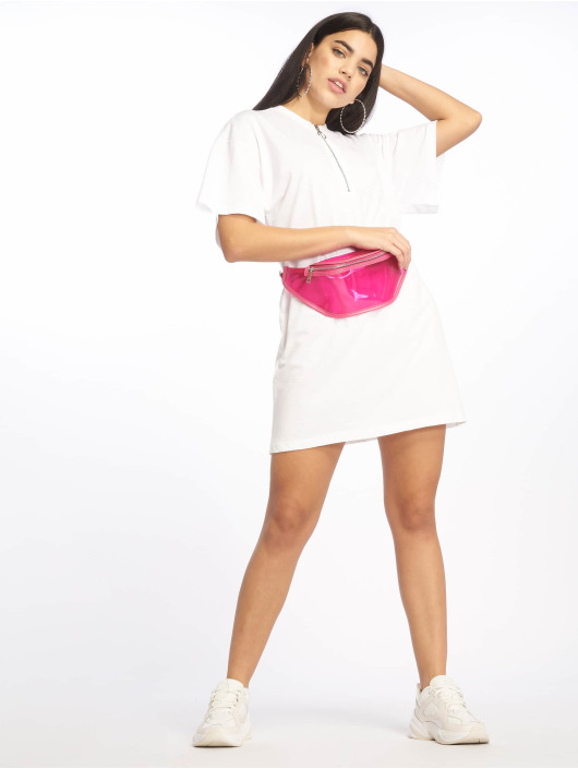 Missguided Robe Oversized SS blanc