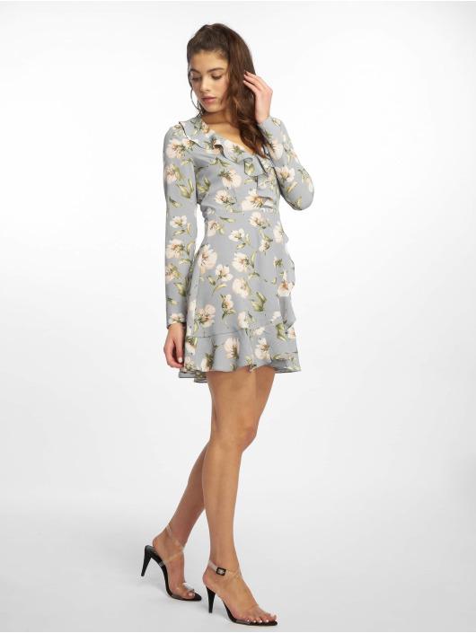 Missguided Robe Floral Ruffle Tea bleu