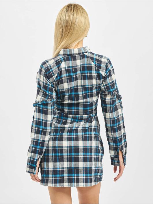 Missguided Robe Ruffle Sleeve bleu