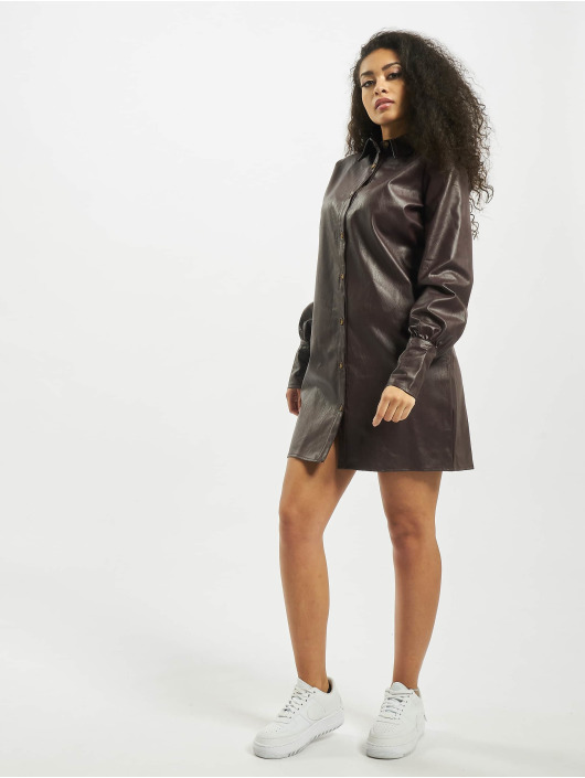 Missguided Robe Tall Faux Leather brun