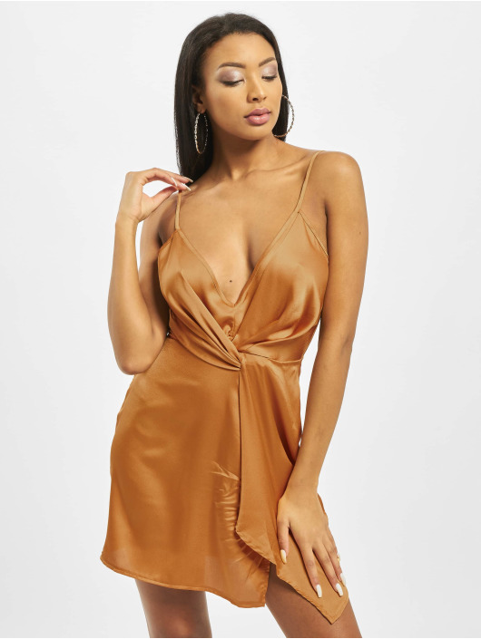 Missguided Robe Strappy Twist Shift jaune