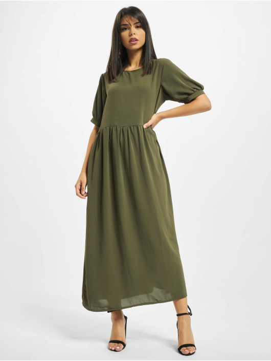 Missguided Robe Puff Sleeve Midi Smock kaki