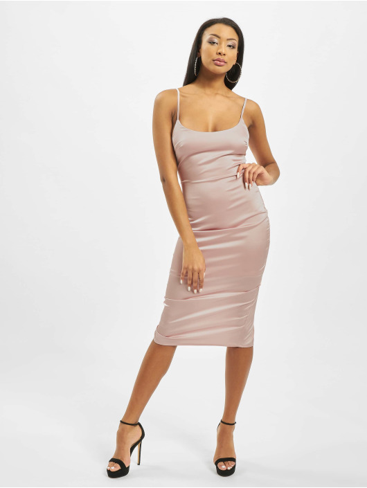 Missguided Robe Satin Cami Bodycon magenta