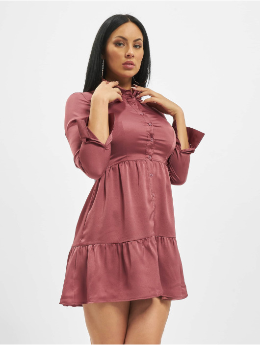 Missguided Robe Button Front Smock magenta