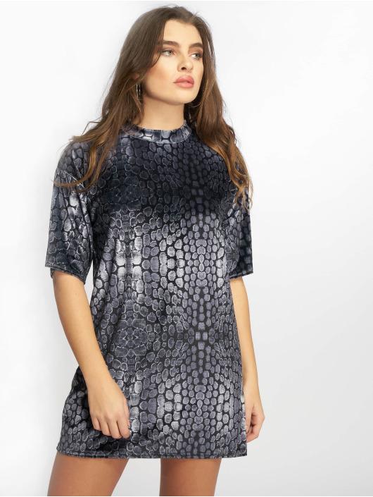 Missguided Robe Oversized High Neck Velvet noir