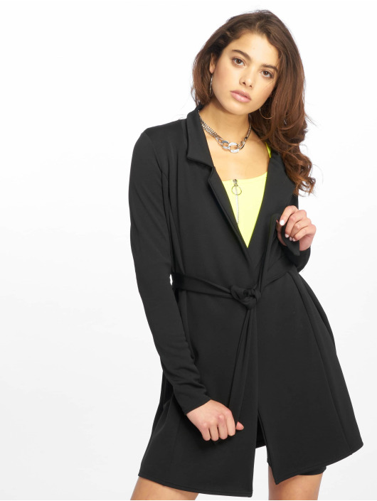 Missguided Robe Long Sleeve Belted Blazer noir