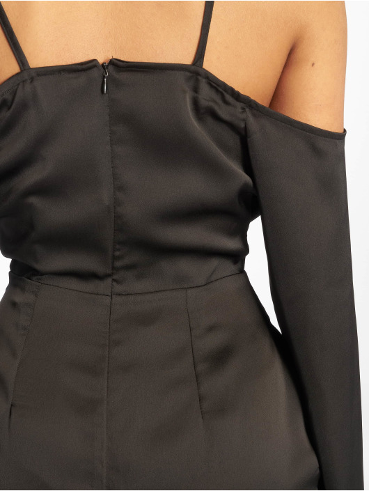 Missguided Robe Satin Cowl Cold noir