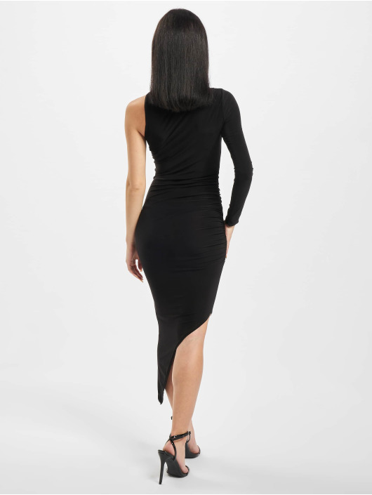 Missguided Robe Slinky One Sleeve High Neck noir