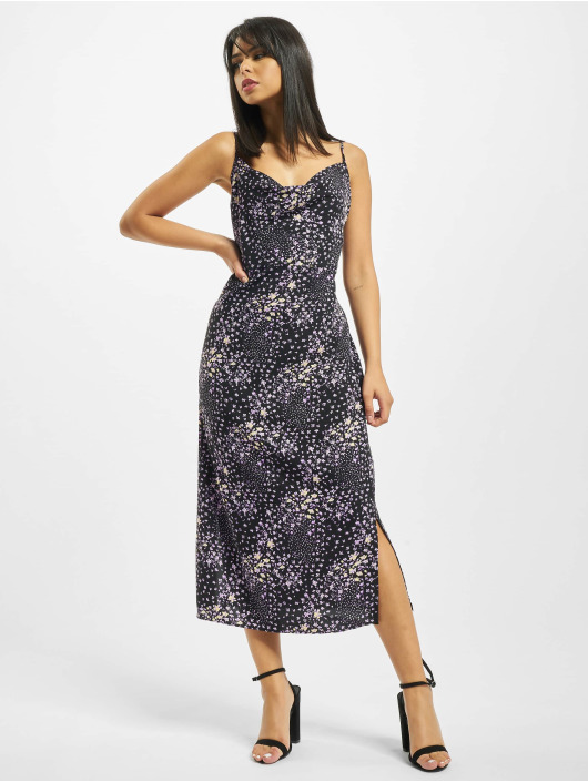 Missguided Robe Cami Cowl Midi Floral noir