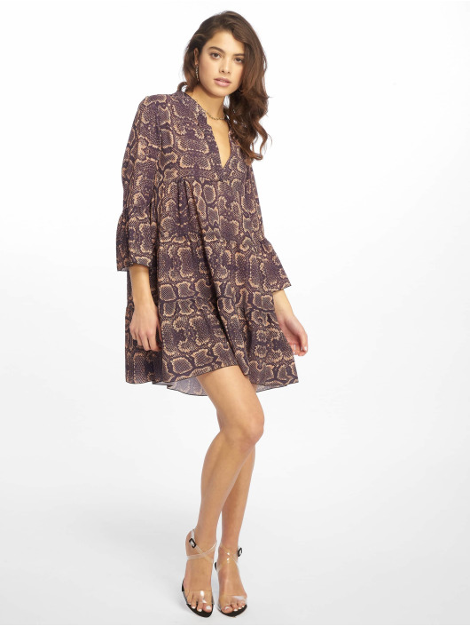 Missguided Robe Long Sleeve Smock Snake pourpre