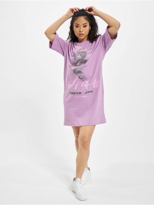 Missguided Robe Oversized T-Shirt SS Dragon pourpre