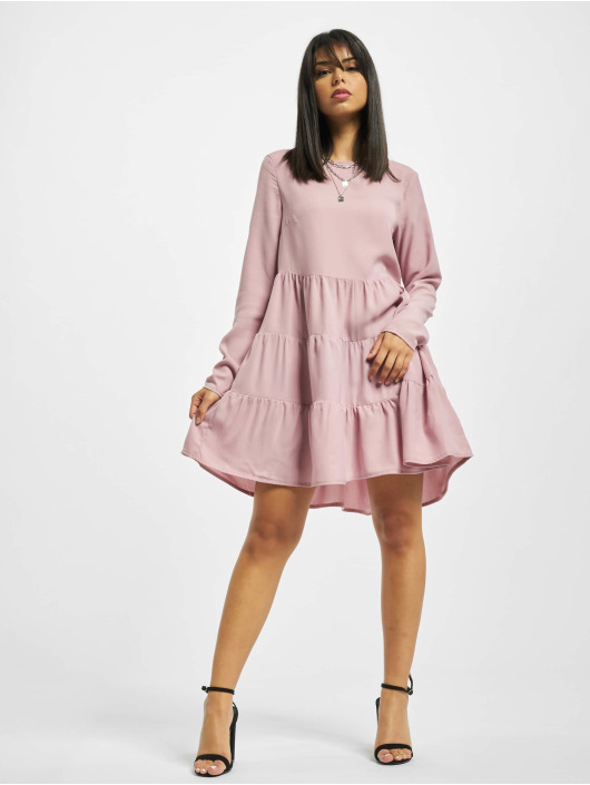 Missguided Robe Tiered rose