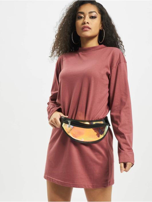 Missguided Robe Basic T-Shirt Dress Longsleeve rouge