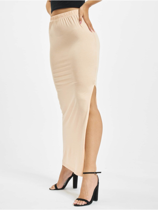 Missguided Rock Side Split Maxi beige