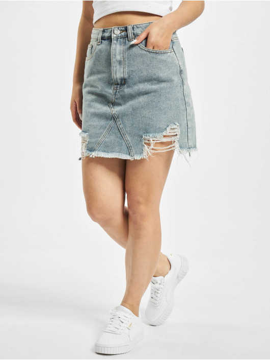Missguided Rock Distress Hem blau