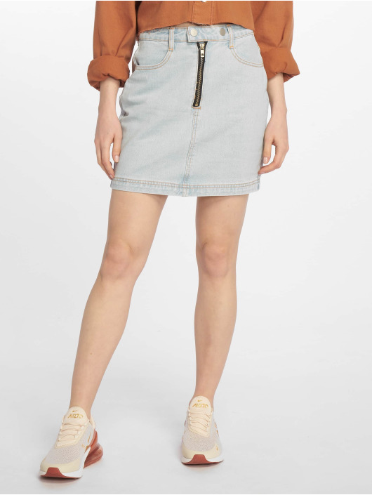 Missguided Rok Double Popper Zip blauw
