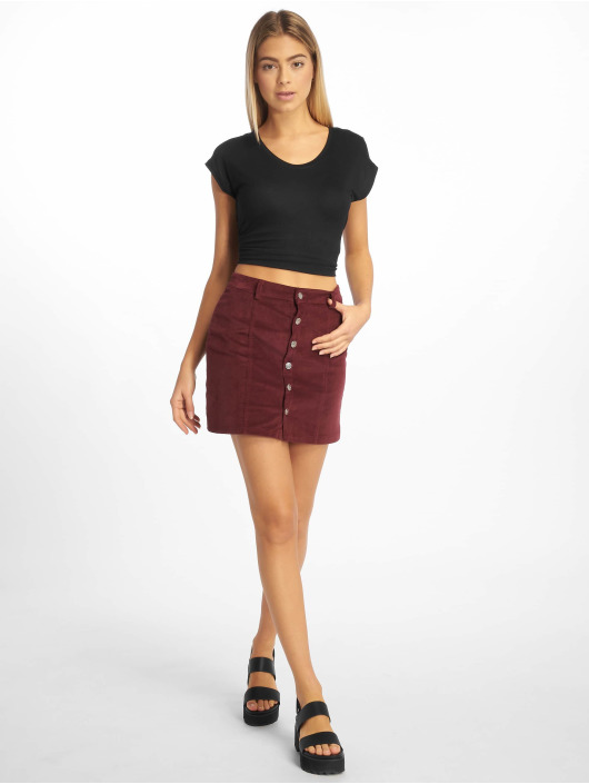 Missguided Rok Cord Button Through paars