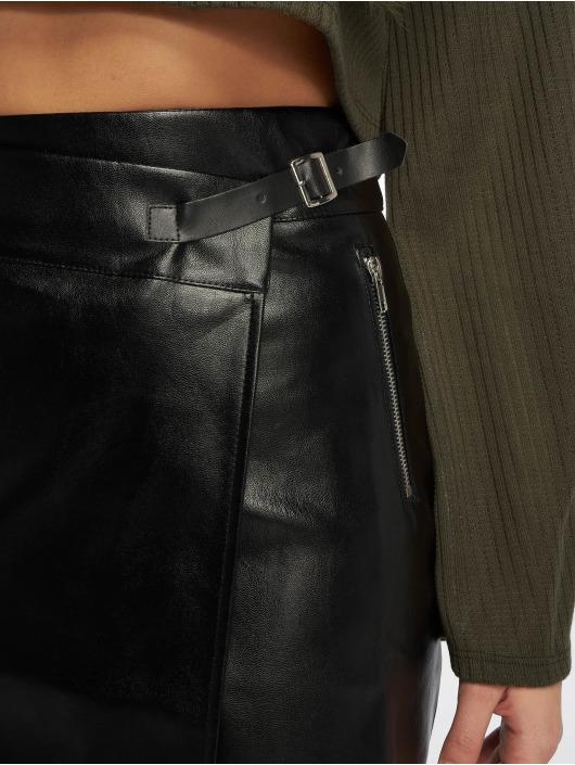 Missguided rok Buckle Strap PU zwart