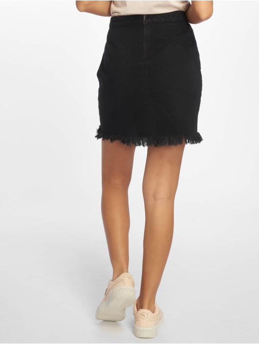 Missguided Rok Fray Hem zwart