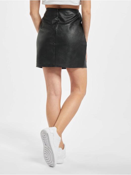 Missguided Rok Faux Leather Mini zwart