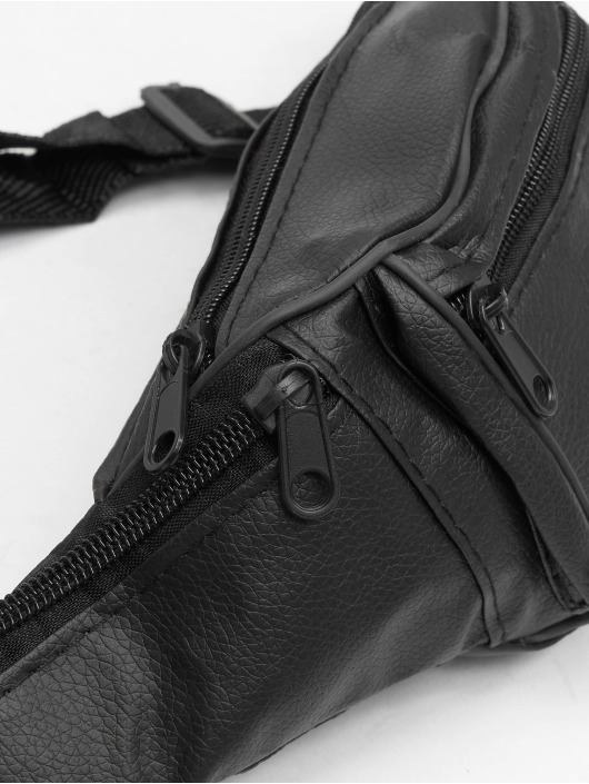 Missguided Sac Leather Bum noir