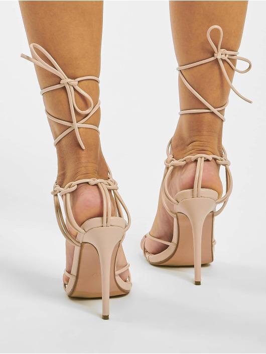 Missguided Sandal Super Strappy Square Toe Barley beige
