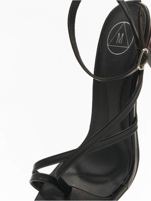 Missguided Sandal Cross Toe Post Low Heel sort