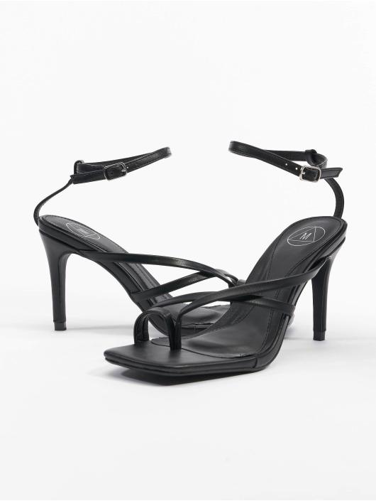 Missguided Sandaler Cross Toe Post Low Heel svart