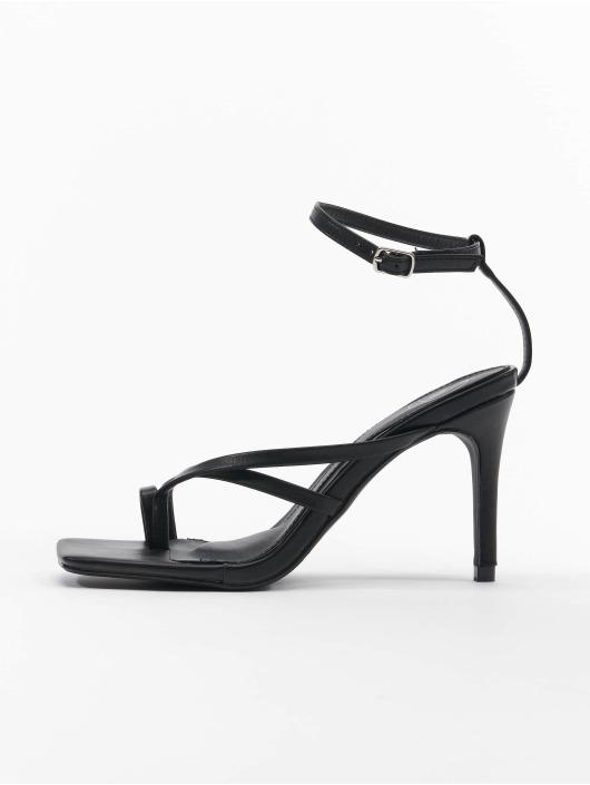 Missguided Sandals Cross Toe Post Low Heel black